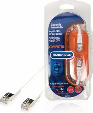 Bandridge Cat6 F / Utp Netværkskabel RJ45 (8P8C) Han - RJ45 (8P8C) Han 5.00 m Hvid, BCL7305