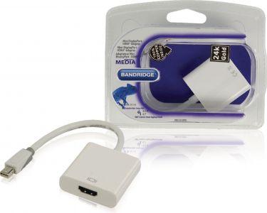 Bandridge Bandridge Mini DisplayPort Cable Mini DisplayPort Male - HDMI Female 0.20 m White, BBM3765