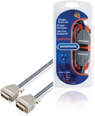 Bandridge DVI Cable DVI-D 24+1-Pin Male - DVI-D 24+1-Pin Male 2.00 m Blue, BCL1402