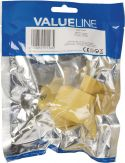 Biladapter, Valueline Wall Charger 1-Output 2.1 A 2.1 A USB Yellow, VLMP11955Y