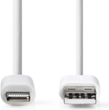 Nedis Synkroniserings- og opladerkabel | Apple Lightning | USB A-hanstik | 3,0 m | Hvid, CCGB39300WT