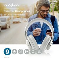Nedis Wireless Headphones | Bluetooth® | Over-ear | Active Noise Cancelling (ANC) | White, HPBT5260W
