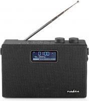 Nedis Digital DAB+-radio | 15 W | FM | Bluetooth® | Sort/sort, RDDB4320BK