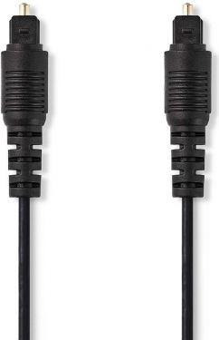 Nedis Optical Audio Cable | TosLink Male - TosLink Male | 1.0 m | Black, CAGB25000BK10