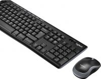 Logitech Wireless Mouse and Keyboard Combi-Pack Standard USB Belgian Black, 920-004524