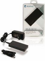 König 4-Port Hub USB 3.0 Powered Black, CSU3H4P200BL