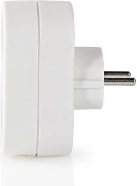 Nedis Power Socket Splitter | Protective Contact | 2-Way | Schuko Socket | White, PSSPL200F1WT