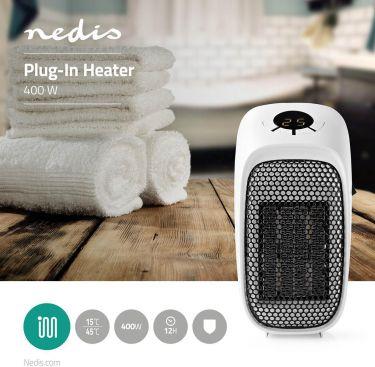 Nedis Plug-In Heater | 400 W | 15 - 45 °C, HTPN10FWT