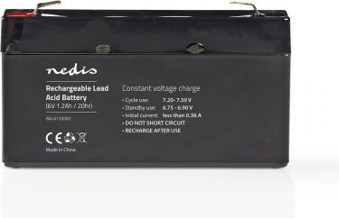 Nedis Rechargeable Lead-Acid Battery 6V | 1200 mAh | 97 x 24 x 52 mm, BALA12006V