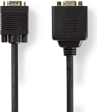 Nedis VGA Cable   VGA Male - 2x VGA Female   0.2 m   Black, CCGP59120BK02