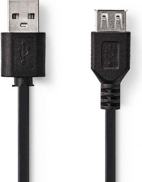 Nedis USB 2.0 Cable | A Male - USB A Female | 3.0 m | Black, CCGT60010BK30