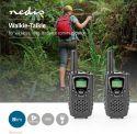Nedis Walkie talkie | 8 km rækkevidde | 8 kanaler | VOX | 2 stk. | Sort, WLTK0800BK
