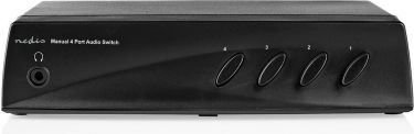 Nedis Analog Lydkontakt | 4 x (2 x RCA-stereo Hunstik) - 1 x RCA-stereo Hunstik + Hovedtelefonudgang