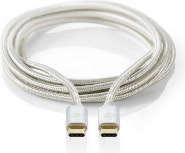 Nedis USB 2.0-kabel | Type-C-hanstik - Type-C-hanstik | 1,0 m | Aluminium, CCTB60700AL10