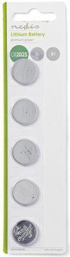 Nedis Lithium Button Cell Battery CR2025 | 3 V | 5 pieces | Blister, BALCR20255BL