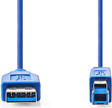 Nedis USB 3.0-kabel | A-hanstik | B-hanstik | 3,0 m | Blå, CCGP61100BU30