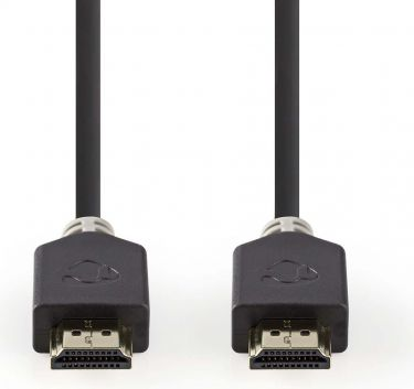 Nedis High Speed HDMI™ Cable with Ethernet | HDMI™ Connector - HDMI™ Connector | 1.0 m | Anthracite,