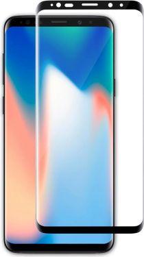 Nedis Skærmbeskytter af glas til Samsung Galaxy S9 Plus | Fuld dækning | 3D-buet | Transparent/sort,