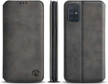 Nedis Soft Wallet Book for Samsung Galaxy A71 | Black, SSW10034BK