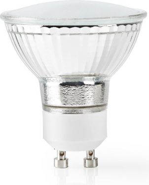 Nedis Wi-Fi Smart LED Bulb | Warm White | GU10 | Dim to Extra Warm White (1800 K), WIFILW12CRGU10