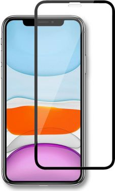 Nedis Glass Screen Protector for Apple iPhone XR / 11 | Full Cover | 3D Curved | Transparent / Black