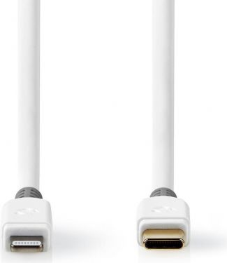 Nedis Apple Lightning-kabel | Apple Lightning 8-bens hanstik - USB-C | 2,00 m | Hvid, CCBW39650WT20