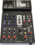 Peavey PV-6 BT Mixer, 6-channel compact mixer with USB and Bluetoot