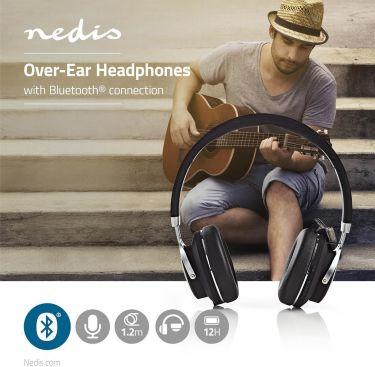 Nedis Trådløse hovedtelefoner | Bluetooth® | On-ear | Rejseetui | Sort, HPBT3220BK