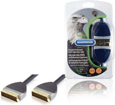 Bandridge SCART Cable SCART Male - SCART Male 2.00 m Black, SVL7392