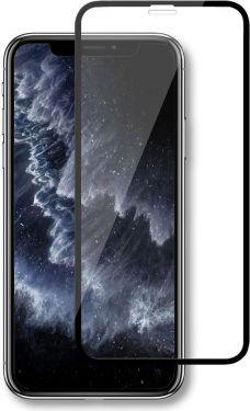 Nedis Skærmbeskytter af glas til Apple iPhone X/Xs/11 Pro | Fuld dækning | 3D-buet | Transparent/sor