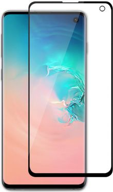 Nedis Glass Screen Protector for Samsung Galaxy S10 | Full Cover | 3D Curved | Transparent / Black,