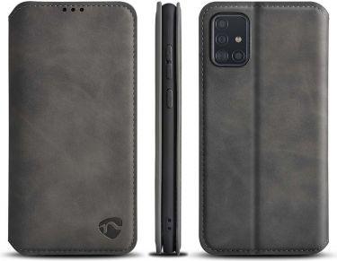Nedis Soft Wallet Book for Samsung Galaxy A51   Black, SSW10033BK