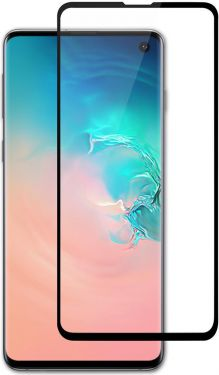 Nedis Glass Screen Protector for Samsung Galaxy S10 E | Full Cover | 3D Curved | Transparent / Black