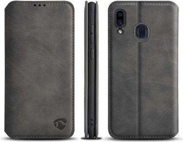 Nedis Soft Wallet Book for Samsung Galaxy M10S | Black, SSW10031BK