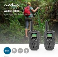 Nedis Walkie-Talkie | Range 8 km | 8 Channels | VOX | 2 Pieces | Black, WLTK0800BK