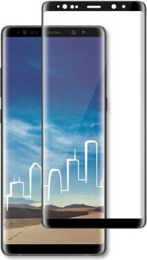 Nedis Skærmbeskytter af glas til Samsung Galaxy Note 9 | Fuld dækning | 3D-buet | Transparent/sort,