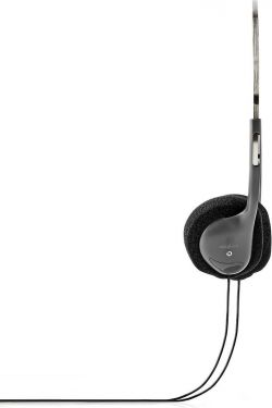 Nedis Wired Headphones | 6.0 m Round Cable | On-Ear | Black, HPWD1102BK