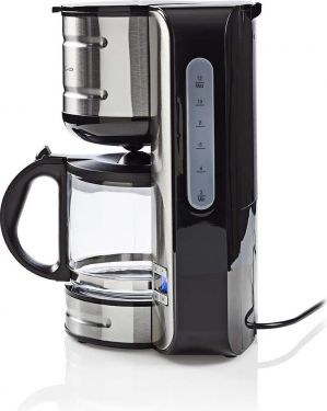 Nedis Coffee Maker | 12 Cup Capacity | 24h Timer | Stainless Steel, KACM210EAL