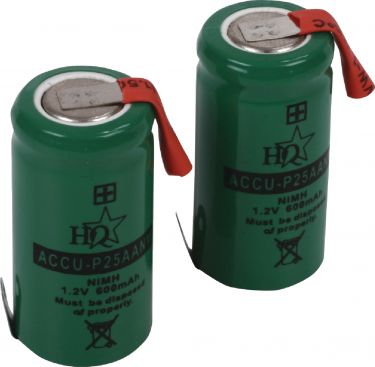 HQ Rechargeable NiMH Battery 1.2 V 600 mAh 1-Pack, ACCU-P25AANM