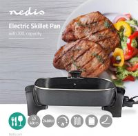 Nedis Electric Skillet Pan | 40 cm | Thick-cast Aluminium Body, FCSP110EBK40