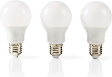 Nedis LED Lamp E27 | A60 | 9.4 W | 806 lm | 3 pack, LEDBE27A603P2