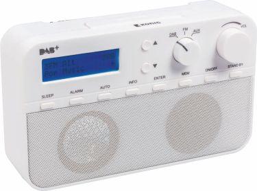 König Bærbar Dab + Radio FM / DAB / DAB+ AUX Hvid, HAV-DABR100WH