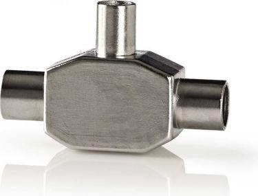 Nedis Koaksialadapter | IEC (koaksial) hanstik - 2 x IEC (koaksial) hunstik, CSBW40951WT