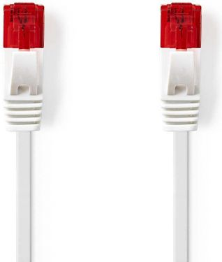 Nedis Cat 6 UTP Network Flat Cable | RJ45 Male - RJ45 Male | 0.5 m | White, CCGP85215WT05