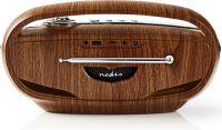 Nedis Digital DAB+-radio | 60 W | FM | Bluetooth® | Brun/sølv, RDDB5310BN