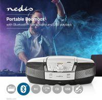 Nedis Boombox | 12 W | Bluetooth® | CD Player / FM Radio / USB / Aux | White, SPBB200WT