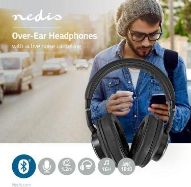 Nedis Trådløse hovedtelefoner | Bluetooth® | Over-ear | Active Noise Cancelling (ANC) | Sort, HPBT52