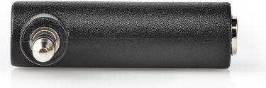 Nedis Stereo-lydadapter | 3,5 mm hanstik - 3,5 mm hunstik | 90° vinklet | 3-Pole | Sort, CAGB22975BK
