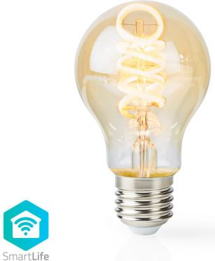 Nedis Wi-Fi Warm to Cool White LED Filament Bulb | Twisted | E27 | A60 | 5.5 W | 350 lm, WIFILT10GDA