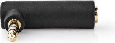 Nedis Stereo-lydadapter | 3,5 mm hanstik - 3,5 mm hunstik | 90° vinklet | 4-Pole | Grå, CABW22980AT